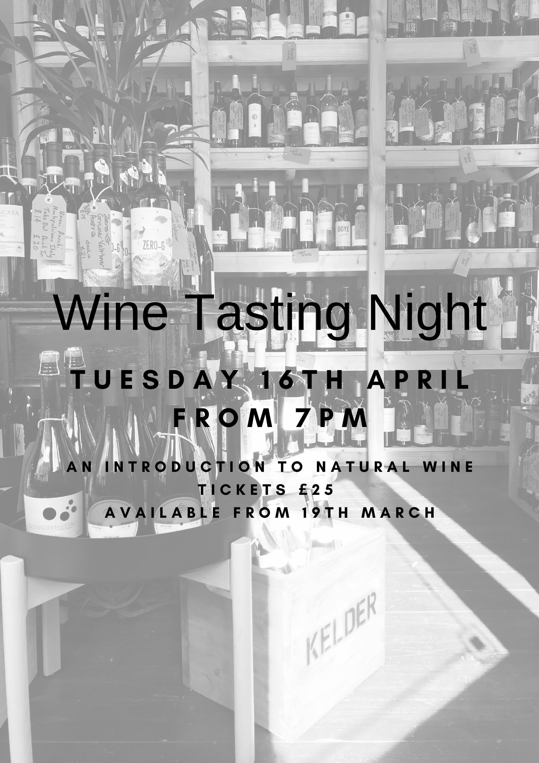 Wine Tasting Night – An introduction to Natural Wines