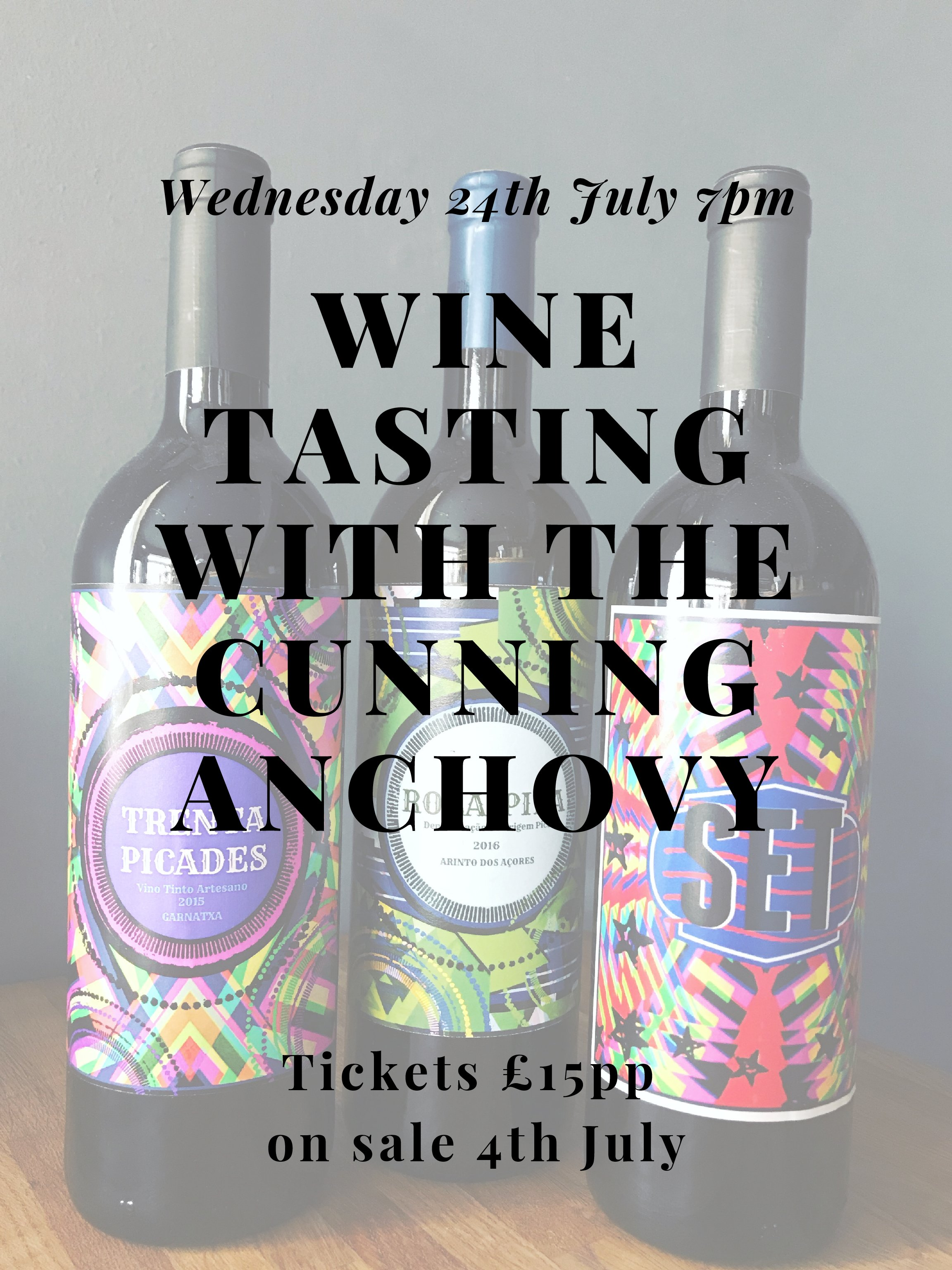 Wine Tasting Night – Cunning Anchovy