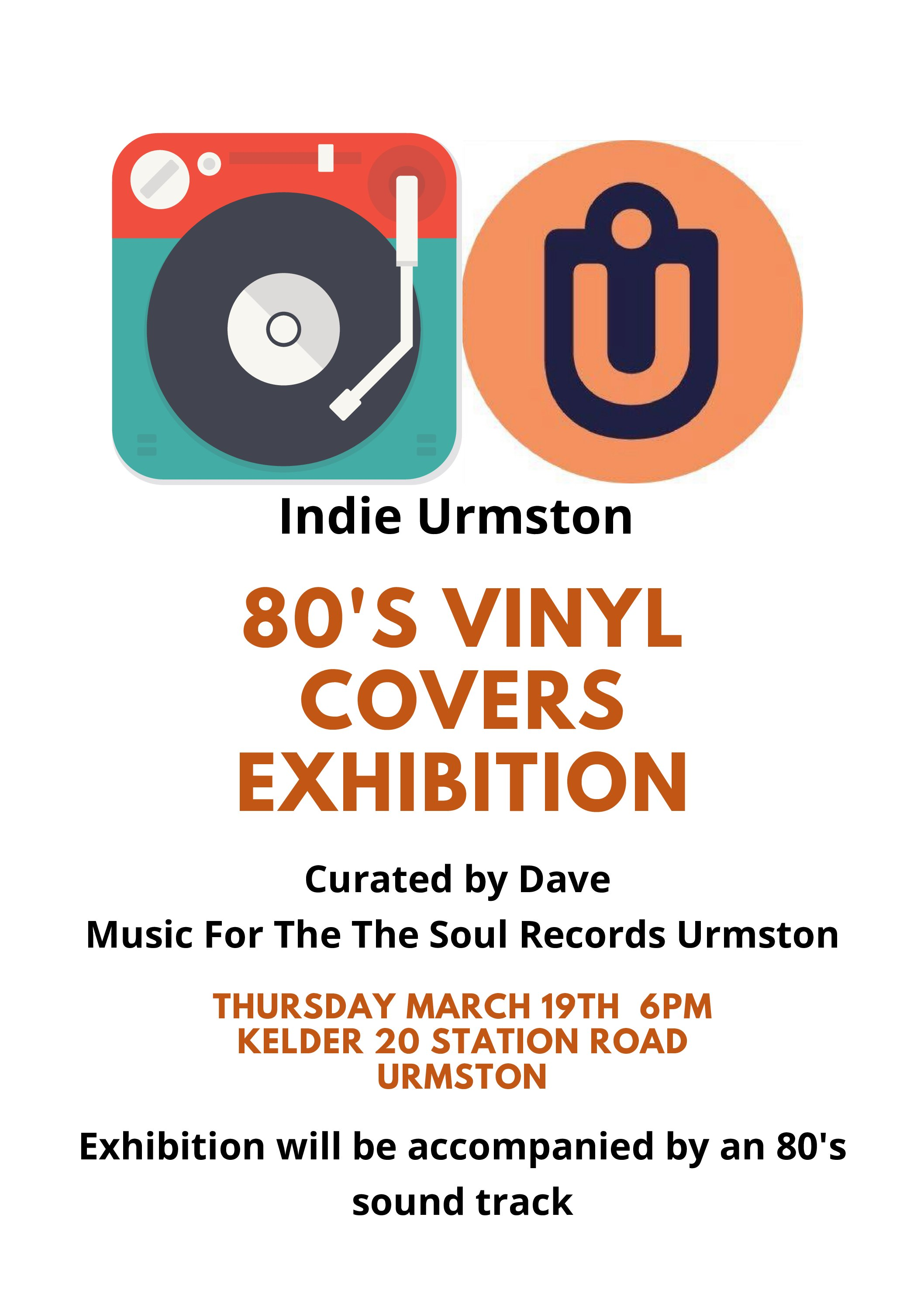 Indie Urmston Night – 80s Vinyl Covers Exhibition